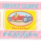 Sunny Slope Peach Halves Can Label Gaffney SC