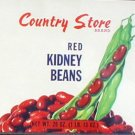 Country Store Kidney Beans Can Label East Gary Indiana