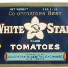 White Star Tomatoes Gilt Can label Superior WI Finnish Co-op History