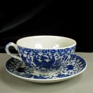 Japan Phoenix Ware Porcelain Cup Saucer Flying Turkey