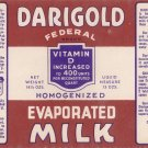 Darigold Evaporated Milk Vintage Can Label Seattle WA