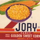 Jory Corn Can label Willamette Valley OR United Growers