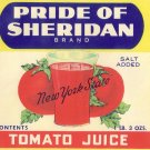 Pride of Sheridan Tomato Juice Can Label New York State