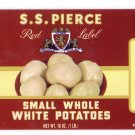 S.S. Pierce Small White Potatoes Can Label Boston MA