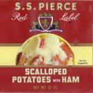 S.S. Pierce Scalloped Potatoes and Ham Can Label Boston MA