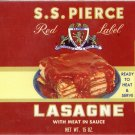 S.S. Pierce Lasagne Can Label Boston MA