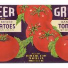 Greer Tomatoes Can Label Marshfield MO