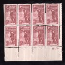 US Scott 1064 Plate Block of 8 MNH VF LR25105 3c Academy Fine Arts