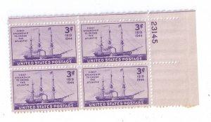 US Scott 923 MNH Plate Block of 4 3c Steamship UR 23145