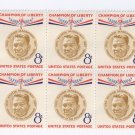 US Scott 1096 MNH VF Block of 6 8c Magsaysay Champion of Liberty