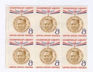 US Scott 1096 MNH VF Block of 6 8c Magsaysay Champion of Liberty