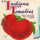 Indiana Tomatoes Vintage Can Label Carthage IN