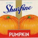 Shurfine Pumpkin Can Label 1936 Chicago IL N.R.O.G. Gilded