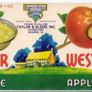 West-Over Apple Sauce Richmond VA Vintage Can Label
