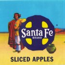 Santa Fe Sliced Apples Indian Arkansas KS Vintage Can Label