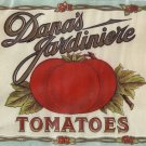 Dana's Jardiniere Tomatoes Vintage Vegetable Can Label Belpre Ohio