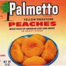 Palmetto Peaches Gilbert SC Vintage Can Label