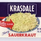 Krasdale Sauerkraut Vintage Vegetable Can Label New York NY