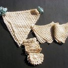 Vintage Crochet Trims 3 different