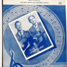 Three Ways of Knowing Johnnie & Jack Sheet Music 1952