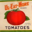Vintage Can label Ul-Eat-More Tomatoes Wapakoneta OH