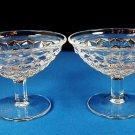 Fostoria American 2 Low Champagne Sherberts Elegant Glass