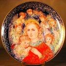 Collector Christmas Plate Edna Hibel The Angels Message 1985 MIB COA