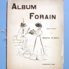 Album Forain Paris c 1896 Librairie Plon Satirical Drawings