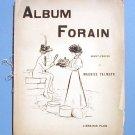 Album Forain Paris c 1896 Librairie Plon Satirical Drawings