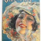 Vintage Sheet Music Girl Of Mine Rolf Armstrong Cover 1919