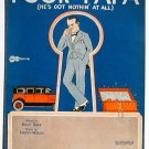 Vintage Sheet Music Poor Papa He's Got Nothin' At All 1926