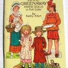 Vintage Paper Dolls Kate Greenaway by Kathy Allert 1981