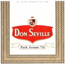 Cigar Box Label Don Seville Park Avenue #15 Vintage