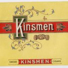 Cigar Box Label Kinsmen Embossed Inner Vintage