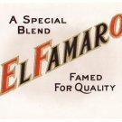 Cigar Box Label El Famaro Embossed Gold Inner Vintage