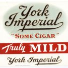 Cigar Box Label York Imperial Embossed Inner Vintage