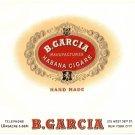 Cigar Box Label B. Garcia Embossed Coins Crest Vintage