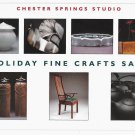 Chester Springs Studio PA Fine Crafts Sale Invitation Advertising Card