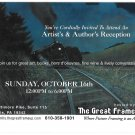 Glen Mills PA Artists & Author's Reception Invitation Frame Store Advertising Card