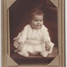 Smiling Chubby Baby White Ruffled Dress Antique Photo Campbell Franklin PA