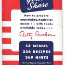 Betty Crocker WWII 1943 Homefront Rationing Your Share Cookbook General Mills