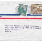 Venezuela Caracas Censored Commercial Cover 1944 WWII Airmail to US Sc C139 C151