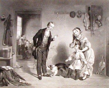 The New Scholar 1854 Steel Engraving Ornaments of Memory F W Edmonds Alfred Jones