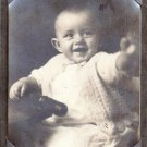 Vintage Photo Laughing Baby Portrait Child Knit Sweater Harpel's  Lebanon PA