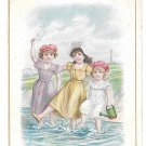 Victorian Trade Card Brussells L Pagnier & Co Pasta Pates Children Girls Ocean
