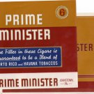 2 Cigar Box Labels Prime Minister Vintage Embossed Top Wrap and Inner