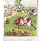 Victorian Trade Card D.W. Williams Soaps for Toilet and Families Glastonbury CT Dog and Cow