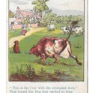 Victorian Trade Card D.W. Williams Soaps Dog and Cow w Crumpled Horn Glastonbury CT