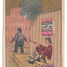 Victorian Trade Card Soapine Soap Kendall Mfg Co Providence RI Innocence Gold background