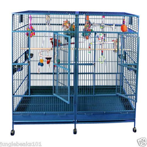 HUGE DOUBLE MACAW HIGH QUALITY bird cage cockatoos  FREE SHIPPING in the USA